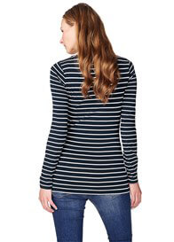Queen Bee Lely Long Sleeve Maternity Tee in Dark Blue Stripe by Noppies