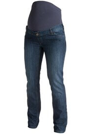 Queen Bee Dark Wash Full Panel Boyfriend Maternity Jeans by Esprit