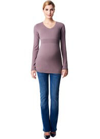 Queen Bee Cashmere Blend Fitted Maternity Knit Jumper in Taupe by Esprit
