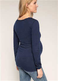 Queen Bee Cashmere Blend Fitted Maternity Knit Jumper in Blue by Esprit