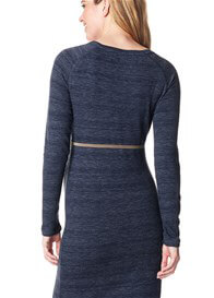 Queen Bee Navy Maternity Sweater Dress by Supermom