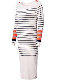 Queen Bee Gom Striped Knit Maternity Midi Dress by Noppies