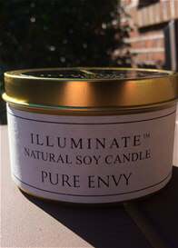 Queen Bee Soy-based Candle in Tin w Pure Envy Fragrance by Illuminate