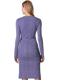Queen Bee Columbine Blue Print Maternity Nursing Dress by Esprit