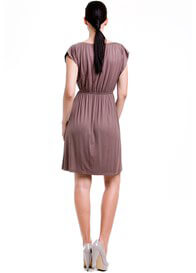 Queen Bee Noir Nursing Dress in Mocha by Dote Nursingwear