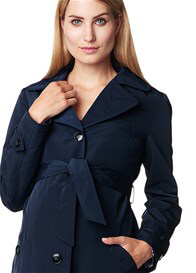 Queen Bee Dark Navy Maternity Short Trench Coat by Esprit