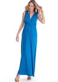 Queen Bee Seaside Blue Maternity Maxi Dress by Seraphine