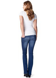 Queen Bee Flared Maternity Jeans in Stone Wash by Supermom