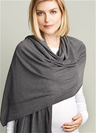 Queen Bee Soft Knit Nursing Scarf Cover in Charcoal by Maternal America