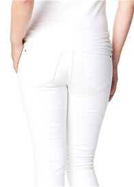 Queen Bee Leah Slim Fit White Maternity Jeans by Noppies