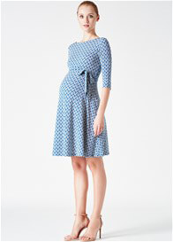 Queen Bee Sailors Knot Print Maternity Dress by Leota