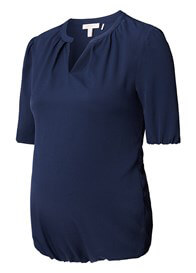 Queen Bee Fluid Maternity Blouse in Navy Blue by Esprit