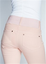 Queen Bee Dusty Pink Skinny Ankle Maternity Jeans by Maternal America
