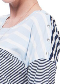 Queen Bee Cleo Mixed Stripe Maternity Nursing Top by Seraphine