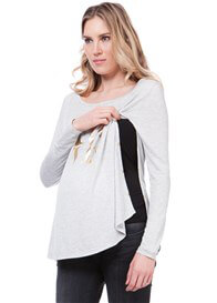 Queen Bee Love Slogan Maternity Nursing Top by Seraphine