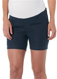 Queen Bee Jenna Blue Linen Maternity Shorts by Noppies