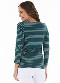 Trimester™ - Alyce Nursing Top in Green Stripe - ON SALE