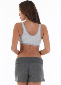 Queen Bee Tiffany Maternity Nursing Sleep Bra in Grey Stripe by Queen Bee