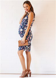 Queen Bee Ellie Maternity Nursing Tank Dress in Floral Posy by Floressa