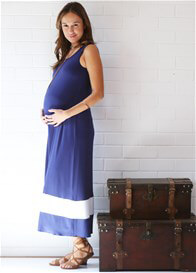 Queen Bee Skylar Maternity Nursing Maxi Dress by Trimester Clothing