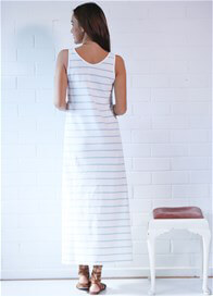 Queen Bee Dante Stripe Maternity Maxi Dress by Trimester Clothing