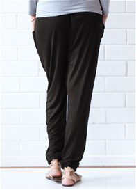Queen Bee Zoe Pleated Maternity Pants in Black by Floressa Clothing