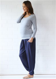Queen Bee Kory Pleated Slouchy Maternity Pant by Floressa