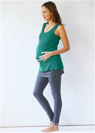 Queen Bee Rylan Nursing Tank in Emerald by Trimester Clothing