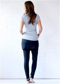 Queen Bee Brooks Skirted Maternity Legging in Black by Trimester Clothing