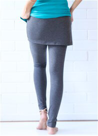 Trimester™ - Brooks Skirted Legging in Charcoal