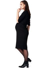 Queen Bee Chris Midi Maternity Dress in Black by Noppies