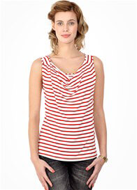 Queen Bee Milkizzy Marie Nursing Top in Red Stripes by Pomkin