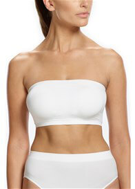 Queen Bee Padded Strapless Maternity Bandeau Bra in White by Ambra