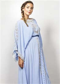 Queen Bee I Believe in Unicorns Maternity Maxi Dress by Fillyboo