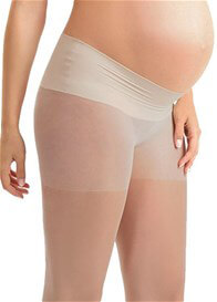 Queen Bee Sheer Low Rise Belly Support Band Maternity Pantyhose by Blanqi