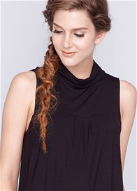 Queen Bee Trudy Bamboo Nursing Top in Black by Dote Nursingwear