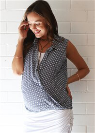 Queen Bee Frankie Signature Layer Maternity Nursing Top by Floressa