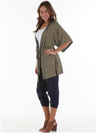 Queen Bee Trevion Jersey Maternity Kimono Jacket by Trimester Clothing