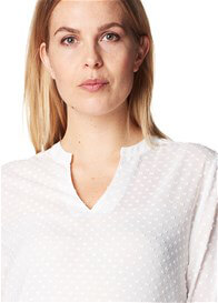 Queen Bee Off-White Polkadot Maternity Blouse by Esprit