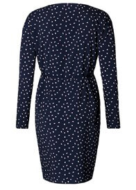 Queen Bee Navy Blue Butterfly Print Maternity Dress by Esprit