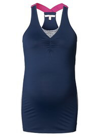 Queen Bee Wellness Active Maternity Tank Top in Night Blue by Esprit