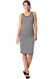 Queen Bee Nora Striped Midi Reversible Maternity Dress by Noppies