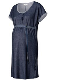 Queen Bee Maure Belted Denim Jersey Maternity Dress by Noppies