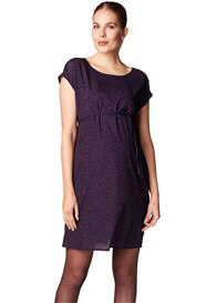 Queen Bee Midnight Abstract Print Maternity Tea Dress by Esprit
