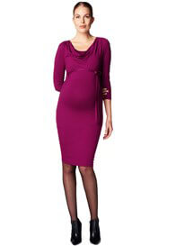 Queen Bee Grape Cowl Neck Maternity Nursing Dress by Esprit