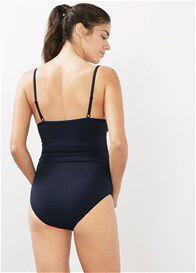 Queen Bee One Piece Padded Bra Maternity Swimsuit in Blue by Esprit