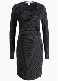 Queen Bee Faux Wrap Striped Maternity Nursing Dress by Esprit