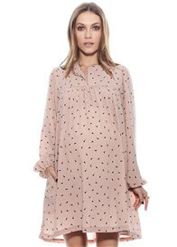 Queen Bee Jamie Maternity Dress in Rose Print by Imanimo