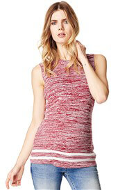 Queen Bee Shay Sleeveless Knit Maternity Top in Red by Supermom