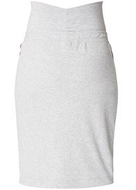 Queen Bee Saar Side Stripe Maternity Skirt in Grey by Supermom